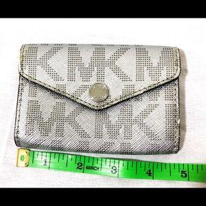 NWT Michael Kors Silver card holder